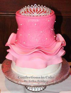 Ballerina tutu cake with tiara.