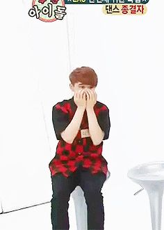 Kyungsoo dying after trying to force our his aegyo but really he's so adorably cute when he doesn't try.