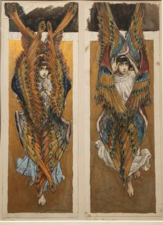Seraphim - Viktor Vasnetsov at The State Tretyakov Gallery, Moscow Cassandra Calin, Tumblr Tattoo, Esoteric Art, Biblical Art, Angel Art, Old Art, Christen, Art Plastique, Religious Art
