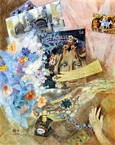 (Korea) Italian Journey by Chun Kyung-ja (1924-2015). 천경자. 이탈리아 기행