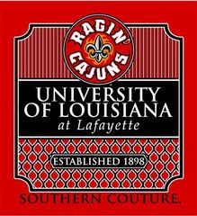 Southern Couture ULL Ragin Cajuns Preppy Logo University of Louisana L | SimplyCuteTees