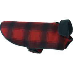 e7274fd47f5 The SK Fleece Dog Jacket will keep your canine warm while looking stylish.  The plaid