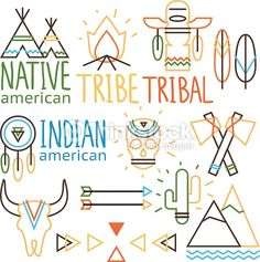 Clipart vectoriel : Tribal labels