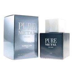 PURE METAL by Karen Low 3.3 / 3.4 oz edt Cologne Spray for Men * New In Box * Visit the image link more details.