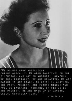 """anais nin, if you are a woman and don't know Anais Nin - check her out.  She didn't let men or the """"status quo"""" limit her beliefs or actions. Amazing role model"""
