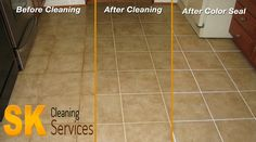 "The tiles are steam cleaned with ""turbo power"" while simultaneously extracting the dirt & soils that have built up over time."