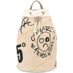 Check out this product: Vivienne Westwood printed drawstring backpack, Nude/Neutrals, Cotton #villoid