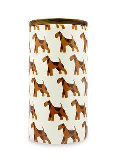 Orange Aierdale Terrier Treat Jar by Aimee Wilder at Gilt