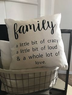 Excited to share the latest addition to my shop: Family Pillowcase> Farmhouse Pillow> Modern Pillowcase> Farmhouse Decor> Trendy Pillowcases>Throw Pillow> Farmhouse Style>PILLOWCASE ONLY Diy Pillow Covers, Diy Pillows, Cushion Covers, Decorative Pillows, Pillow Cases, Pillow Ideas, Cushion Ideas, Homemade Pillows, Funny Pillows