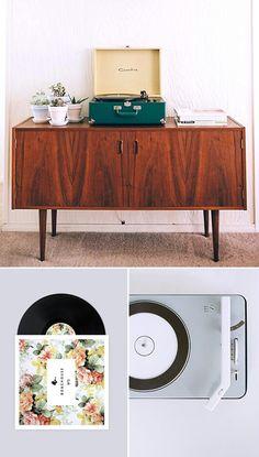 Penncrest Vintage Record Player Console Am Fm Radio