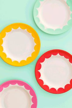 Painted plates by Sarah Hearts