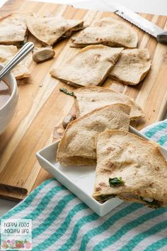 Vegetarian Spinach & Mushroom Quesadilla