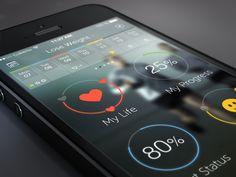 WIP fitness app iOS 7 by Cuberto
