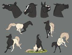 Creature Drawings, Horse Drawings, Cute Animal Drawings, Animal Sketches, Art Drawings, Character Art, Character Design, Cartoon Crazy, Warrior Cats Art