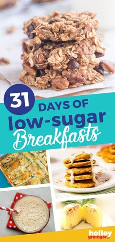 Get over an ENTIRE MONTH of family-favorite, low-sugar breakfast recipes for busy mornings that will leave your family feeling full and satisfied. Healthy Meals For Kids, Healthy Eating Tips, Kids Meals, Healthy Recipes, Delicious Breakfast Recipes, Brunch Recipes, Recipes Dinner, Make Ahead Breakfast, Breakfast Ideas