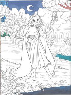 Princess Rapunzel Colouring Pages