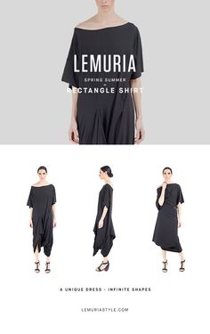 Mega t-shirt, wearable asoverall and dress. #woman #clothing #multifunctional #dress #italy #brand #designclothing #design #italianbrand #boutique #cotton #jersey #lemuria #ss16 #collection #dress #overall #convertible #convertibledress #lemuria #lemuriaclothing #lemuriastyle