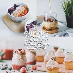 VSCO Filters for Food – VSCO FILTER HACKS White Feed, Best Vsco Filters, Photo Editing Vsco, Vsco Presets, Instagram Feed, Food Photography, Aesthetics, Hacks, Mood