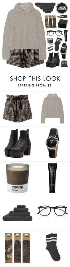 """COZY & CUTE"" by emmas-fashion-diary ❤ liked on Polyvore featuring L'Agence, Michael Kors, Emporio Armani, Pantone, NARS Cosmetics, Chanel, Hamam, Illesteva, Jayson Home and Forever 21"
