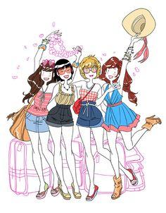 L'Oreal Glossy Girls by Mady Martin, via Behance