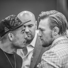 DEJA VU - face-off between Conor McGregor & Jose Aldo during TUF filming : if you love #MMA, you'll love the #UFC & #MixedMartialArts inspired fashion at CageCult: http://cagecult.com/mma
