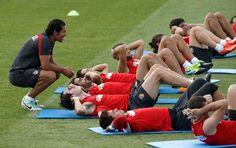 Soccer training warm-ups | Image source: Epicsoccertraining.net