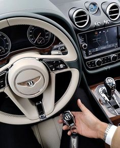 Holding the keys to my Bentley in my hand. I can afford a Bentley. Car Interior Upholstery, Luxury Boat, Car Interior Accessories, Bentley Car, Lux Cars, Car Goals, Modified Cars, Rolls Royce, Amazing Cars