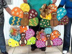 To paint with JOanie ...yard turkies
