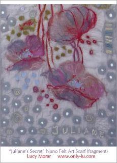 Juliane's Secret / Nuno Felt Art Scarf