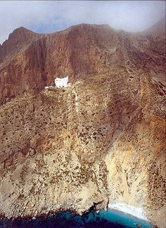 Monastery of Zohoviotisa, Amorgos Island, Greece - Haus Kredit Beautiful Islands, Beautiful Places, Crete, Corfu, Santorini Villas, Zorba The Greek, Myconos, Greece Travel, Greek Islands