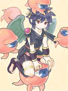 Kid Icarus - Dark Pit and the Monoeye Icarus Game, Chibi, Kid Icarus Uprising, Video Game Art, Video Games, Creepy Kids, Cute Games, Super Smash Bros, Anime Love