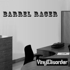 Barrel Racer Wall Decal - Vinyl Decal - Wall Quote - Mv016