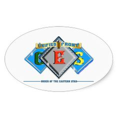 Order of the Eastern Star OES Oval Stickers