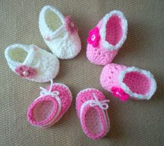 3 pairs of booties/slippers for some Sweet Feet!