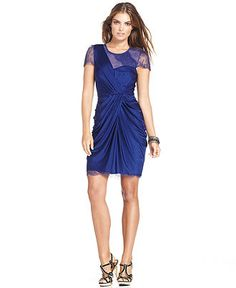BCBGMAXAZRIA Dress, Asymetrical Rouched Cocktail - Womens Dresses - Macy's