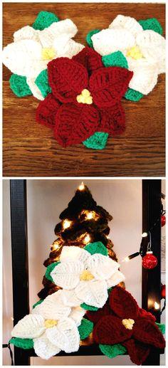 Flower Crochet Poppy Free Pattern, Free Crochet, Crochet Patterns, Christmas Star, Christmas Crafts, Xmas, Christmas Ornaments, Crochet Doilies, Crochet Flowers