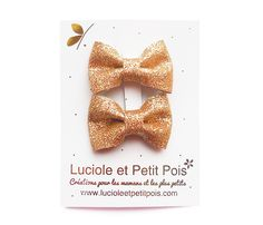 Golden bowtie hair clips for the little ones :)