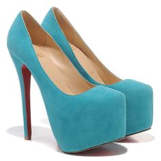 Sky blue #Louboutins I'm in love!