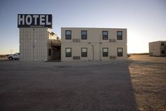 Fleet Came Up With The Idea Of Having A Hotel Made Out Shipping Containers For Transient Oil Field Workers This Is In Lake Texas