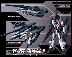 The Valkyrie II is the main variable fighter of the UN Spacy in AD Development began in the and the first rollout was in The first deployment in combat was ag. Macross Valkyrie, Robotech Macross, Gundam, Macross Anime, Sci Fi Anime, Cool Robots, Transformers Masterpiece, Japanese Anime Series, Old Anime