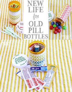17 Ways To Repurpose Pill Bottles. LOTS of CUTE and USEFUL  easy ideas!