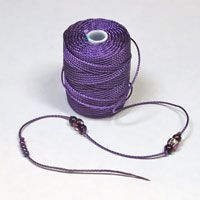 C-Lon Tex 400 Bead Cord - Heavyweight Beading and Micro Macrame Cord Macrame Cord, Macrame Jewelry, Finger Weaving, Yarn Bracelets, Mercerized Cotton Yarn, Bead Crochet Rope, Purple Orchids, Cerise Pink, Blue Pearl