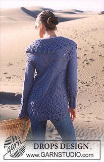 "DROPS Cardigan in ""art knitting"" with Alpaca and Cotton Viscose, based on a circle. ~ DROPS Design"