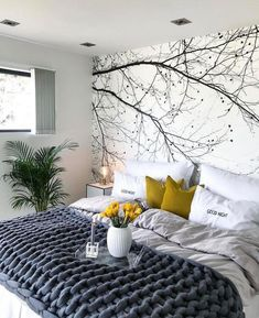 The Best 2019 Interior Design Trends - Interior Design Ideas Bedroom Wall Designs, Modern Bedroom Decor, Cozy Bedroom, Interior Design Living Room, Bedroom Ideas, Bedroom Storage, Bedroom Inspo, Design Bedroom, Room Interior