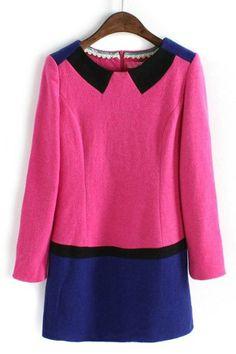 Color Block Paneled Dress - OASAP.com