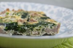 More than Words: Sausage Egg Frittata