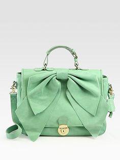 saks fifth avenue green bag