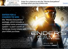 Ender's Game - We saw it with our oldest grandson (8 years old) and we all enjoyed it. Very thoughtful, a lot smarter than I had expected, only a little predictable, and enough action to keep my grandson enthralled. :-)