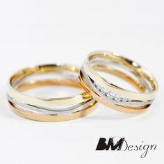 Obrączki ślubne z trzech kolorów złota Models, Gold Rings, Wedding Rings, Rose Gold, Engagement Rings, Jewelry, Wedding Band Rings, Rings For Engagement, Jewlery
