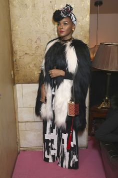 Janelle Monae attends the Alexander McQueen/ AnOther Magazine After Partyas part of the Paris Fashion Week Womenswear Spring/Summer 2016 on October 4, 2015 in Paris, France. ❣ Pinterest: @SlayDoll